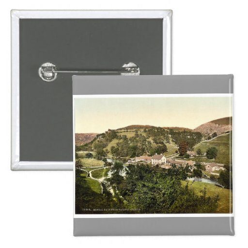 Mansal Dale from railway station, Derbyshire, Engl Pinback Buttons