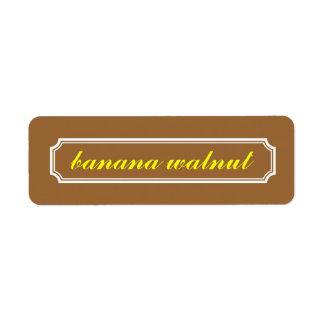 Mansard Border Flavor Label, Banana Walnut Label