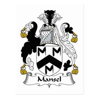 Mansel Family Crest Postcard