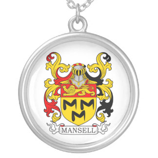 Mansell Coat of Arms II Round Pendant Necklace