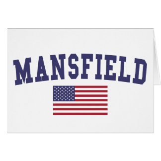 Mansfield OH US Flag Card