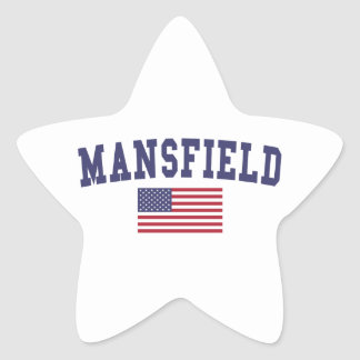 Mansfield OH US Flag Star Sticker