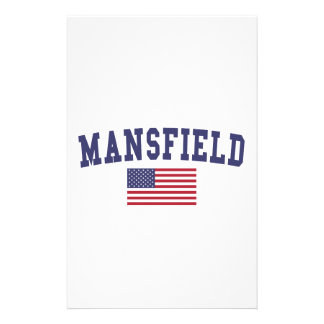 Mansfield OH US Flag Stationery