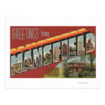 Mansfield, Ohio - Large Letter Scenes Post Cards