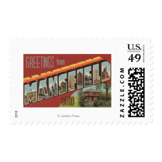 Mansfield, Ohio - Large Letter Scenes Postage