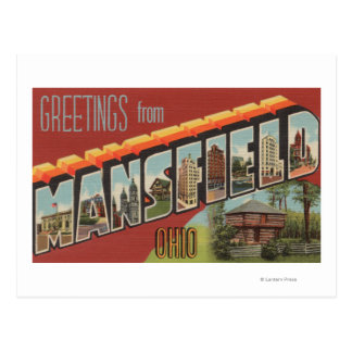 Mansfield, Ohio - Large Letter Scenes Postcard