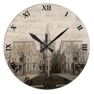 Mansfield Ohio Reformatory Post Card Clock - 1919