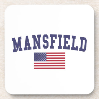 Mansfield TX US Flag Coaster