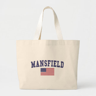 Mansfield TX US Flag Large Tote Bag