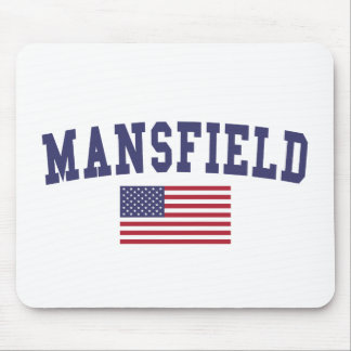 Mansfield TX US Flag Mouse Pad