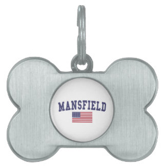 Mansfield TX US Flag Pet Name Tag