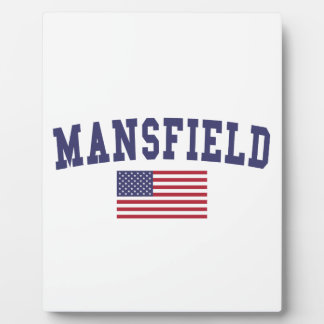 Mansfield TX US Flag Plaque