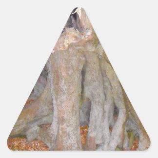 Mansión de las hadas pegatina de triangulo