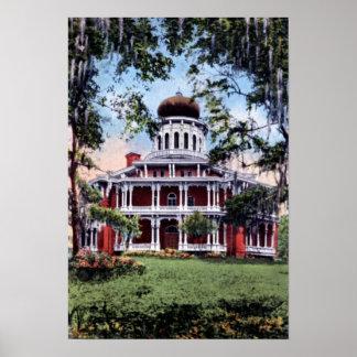 Mansión de Natchez Mississippi Longwood Posters