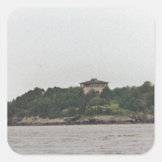 Mansión de Newport Pegatina Cuadrada