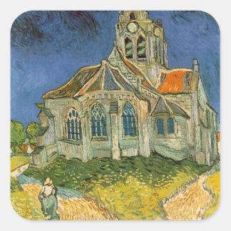 Mansión de Van Gogh Pegatina Cuadrada