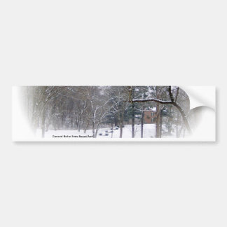 Mansión del mayordomo en la nieve etiqueta de parachoque