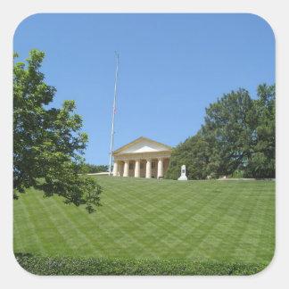 Mansión en Arlington Pegatina Cuadrada