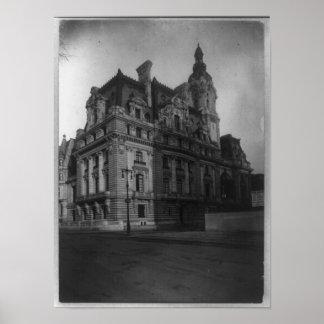 Mansión en la Quinta Avenida, Nueva York, NY 1910 Póster