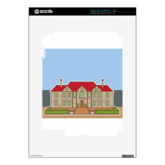 Mansion Front yard vector iPad 2 Decal