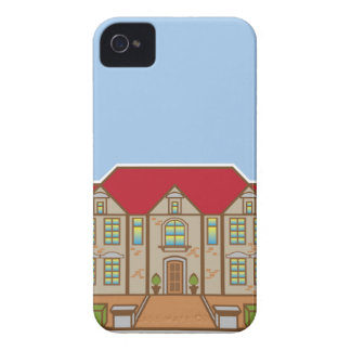 Mansion Front yard vector iPhone 4 Cover