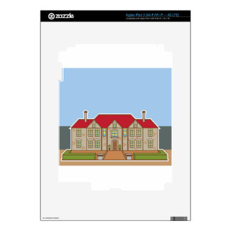 Mansion Front yard vector Skin For iPad 3
