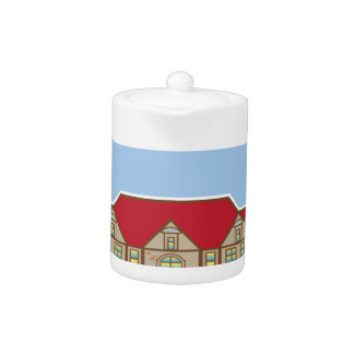 Mansion Front yard vector Teapot