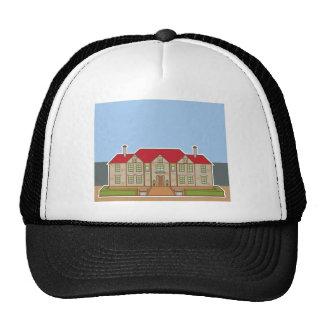 Mansion Front yard vector Trucker Hat
