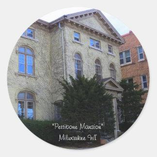 Mansión histórica de Pettibone Pegatina Redonda