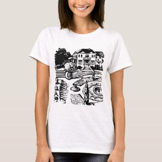 Mansion in park retro T-Shirt