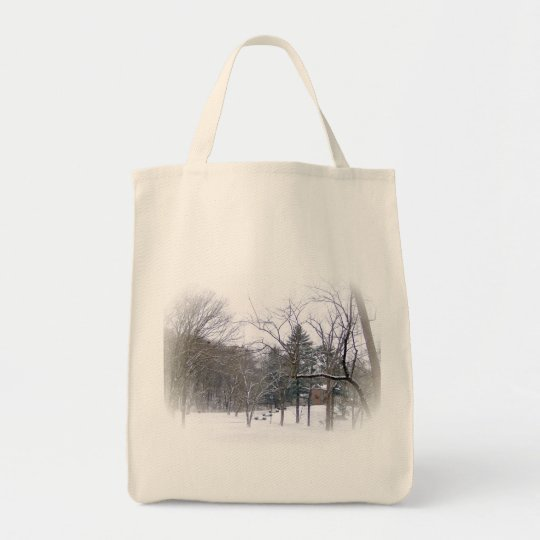 Mansion In The Snow Tote Bag
