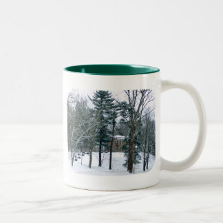 Mansion In the Snow Two-Tone Coffee Mug
