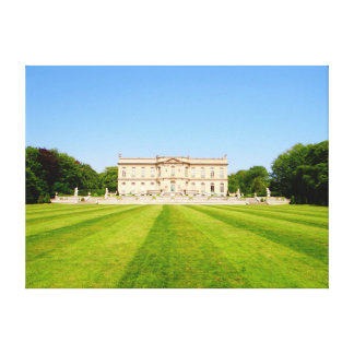Mansion Lawn Stretched Canvas Print