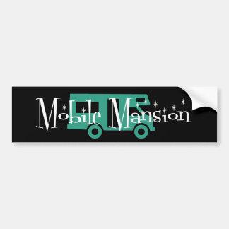 Mansión móvil pegatina de parachoque