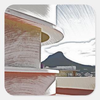 Mansiones de Geriva, Cape Town Pegatina Cuadrada