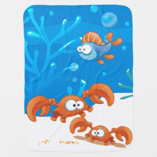 Manta acuática del bebé del océano lindo del mantas de bebé
