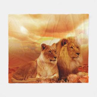 Manta africana del león manta de forro polar