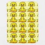 Manta amarilla del bebé del modelo del pato del mantitas para bebé