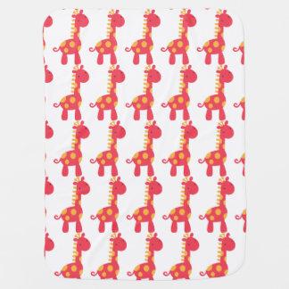 Manta anaranjada y roja del bebé de la jirafa de manta de bebé