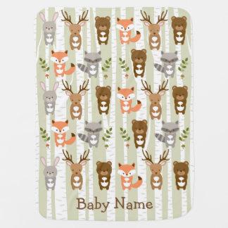 Manta animal del bebé del bosque lindo del mantas de bebé