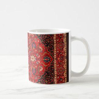 Manta antigua de Mashhad del persa Taza De Café