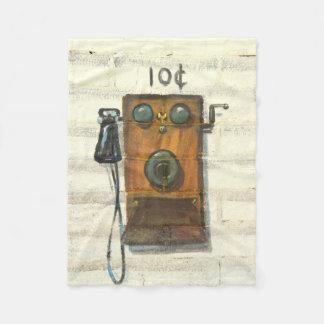 manta antigua del paño grueso y suave del teléfono manta de forro polar