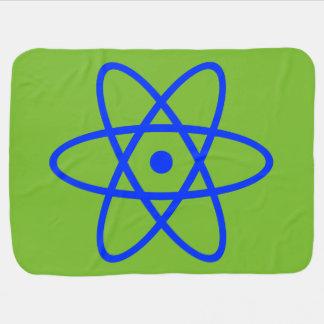 manta atómica del bebé - azul y verde mantas de bebé