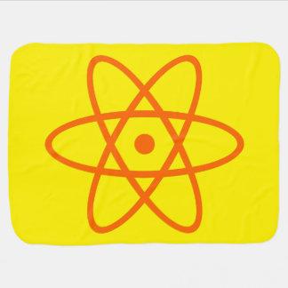 manta atómica del bebé - naranja y amarillo mantas de bebé