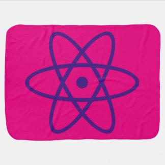 manta atómica del bebé - púrpura y rosa mantitas para bebé