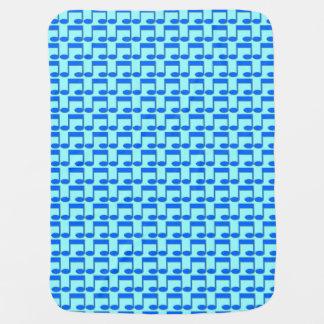 Manta azul del bebé de la nota de la música mantita para bebé