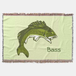 Manta baja de salto del tiro de los pescados