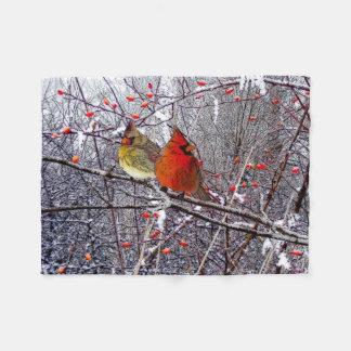 Manta cardinal del paño grueso y suave del bosque