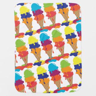 Manta colorida del bebé del helado mantitas para bebé
