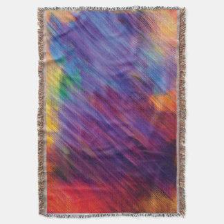 Manta colorida del tiro del arte abstracto